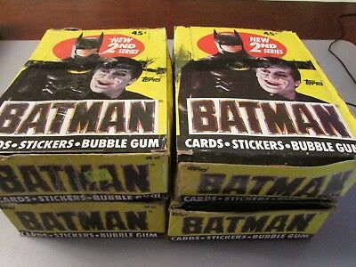 4 1989 Topps Batman Series 2 Full Wax Box Lot 144 Packs FREE SHIPPING