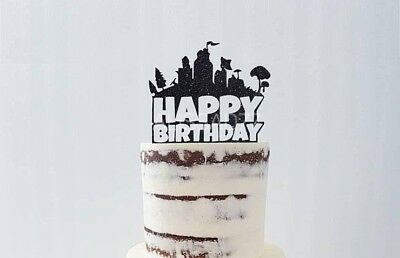 Fortnite Happy Birthday Cake Topper