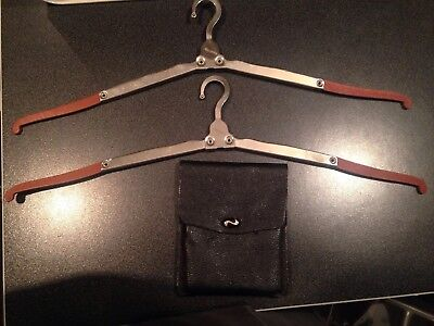 Vintage Travel Fold Out Coat Hangers In Pouch Train Car Travel Cool