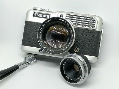 Canon Demi C 50mm + 28mm Lens with Original Strap and Case - 35mm Film Camera