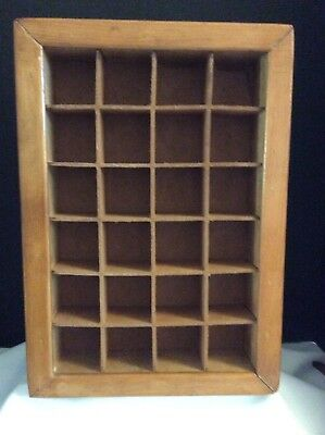 Thimble Display Case Cabinet Shadow Box Wall Rack Holder Cabinet Holds 24