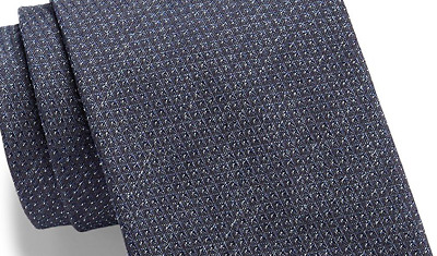 Hugo Boss Men's Mini Dash Silk Tie Blue with pattern style 50299915 HUGO BOSS