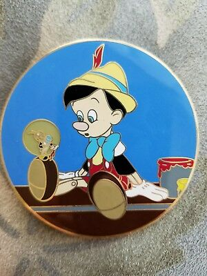 Disney Auctions Pinocchio and Jiminy Cricket Gomes Pin LE 100