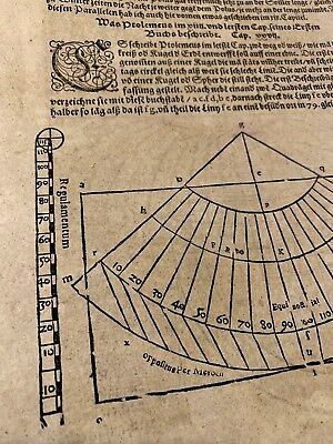 MEDIEVAL ASTRONOMY, NAVIGATION, PTOLEMY, ALMAGEST INCUNABULA BOOK LEAF 1400s