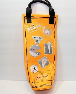 Veuve NWT Clicquot Yellow Champagne Bottle Travel Carry Bag Tote Cooler Sleeve