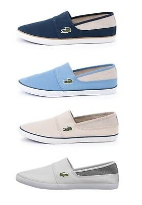 95e5a91cbf02 Lacoste Marice 318 1 Men s Casual Canvas Slip on Loafer Shoes Sneakers Grey