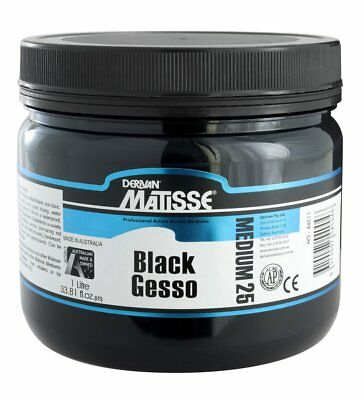 Derivan Matisse Black Gesso - Available in 500ml and 1litre Tubs