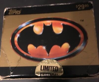 Excellent 1989 Topps Batman Movie Cards Factory Set 143 Glossy Cards +22 Sticker