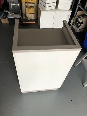 Pos Stand Desk With Lockable Cupboard