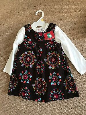 Ollies Place Girls Set Long Sleeve Bodysuit And Dress, Size 2 Brand New With Tag