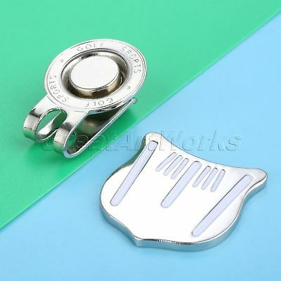 1Pc Professional Alloy Golf Cap Clip Magnetic Hat Clips Golf Ball Aiming Marker