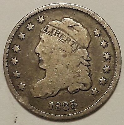 1835 Capped Bust Half Dime, Tough Silver Type   10228mD