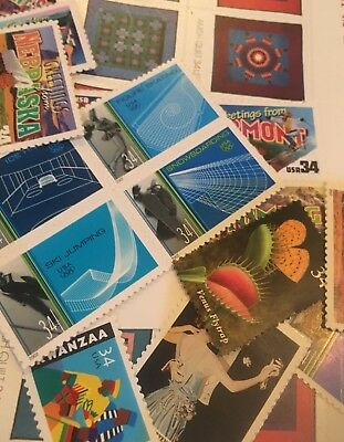 20 MNH  All Different 34 cent stamps