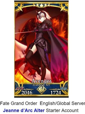 [NA]Fate Grand Order English FGO Starter account Jeanne Alter (Jalter)