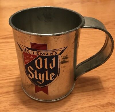 Heilman's OLD STYLE Beer TIN cup With Handle