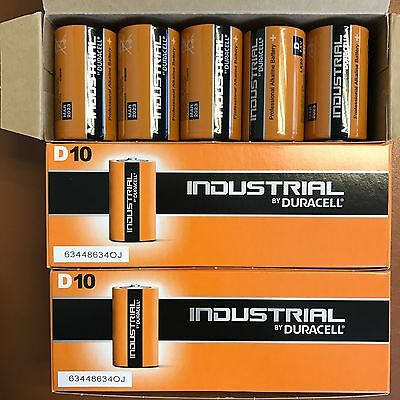 20 X Duracell Taille D Industriel Procell Piles Alcalines LR20 MN1300 D Cell