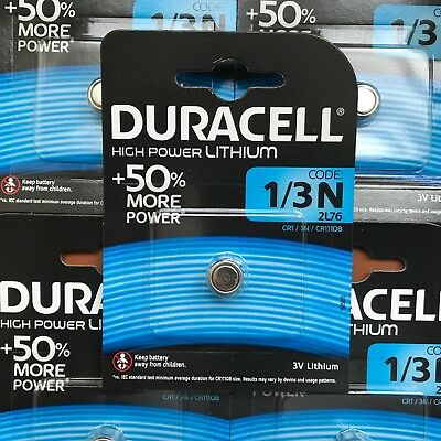 Duracell 1/3N 3V Batterie Lithium DL1/3 N CR13N CR1-3N 2L76 Longest Expiration