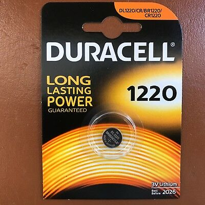Duracell CR1220 3 Volt a Bottone Al Litio Batteria 1220 DL1220 Longest Scadenza