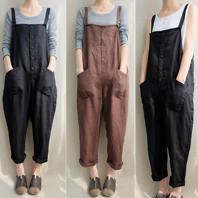 bc05979bb11d Women s Casual Bodycon Jumpsuit Jeans Denim Rompers Overalls Trousers Pants  USA