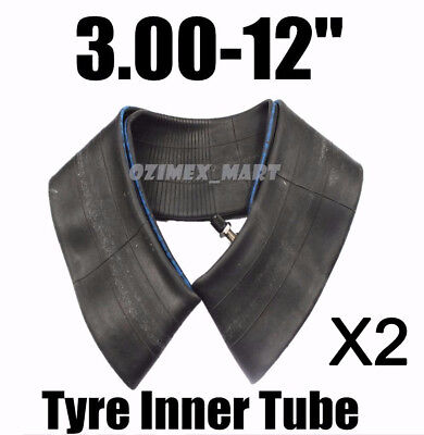 "2 of 3.00-12 80/100 12"" Inner Tyre Tube 50/90/110/125cc Dirt Pit Trail Bike 12"""