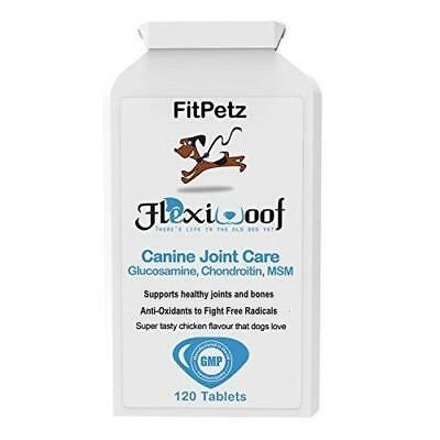 Dog Joint Supplements - FlexiWoof - Glucosamine, Chondroitin, MSM,...