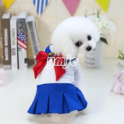 Fashion Cartoon Sailor Moom Small Dog Cat Puppy Pet Clothes Breathable Appare