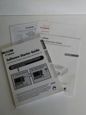 CANON Direct Print and Software Starter - User Guides - English Edition