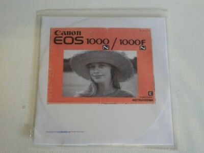 CANON EOS 1000N and 1000FN User Instruction Manual CD - English Edition