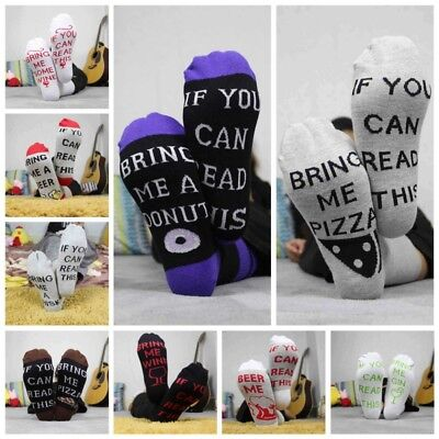 Women Men Funny Socks Letter If You can read this Bring Me A Beer Printed Sock