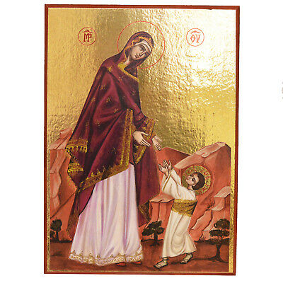 Greek Russian Icon Orthodox Icon First Steps of Jesus Christ 18x25cm