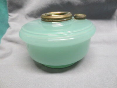 Green Moonstone Aladdin Oil Bracket Lamp - RR Caboose