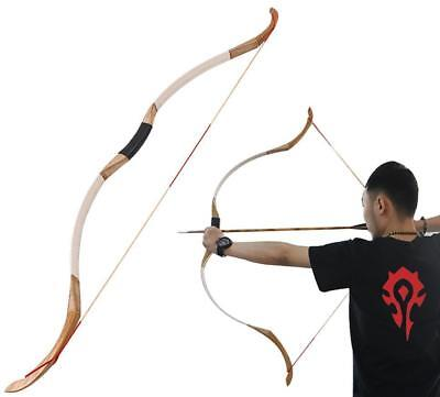 """20-50lbs 52/"""" Archery Leather Recurve Bow Handmade Traditional Horsebow Both Hand"""