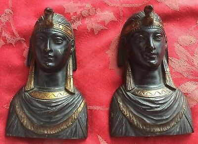 Fabulous Bronze Egyptian Revival Cleopatra ? Masks From A French Clock