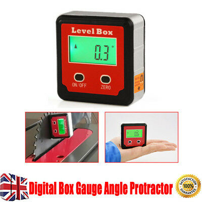 Digital Box Gauge Angle Protractor Level Inclinometer On Magnetic 0 - 360°UK