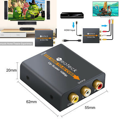Top Mini 1080 P Hdmi Verbund Zu Rca Audio Video Av Cvbs Konverter Adapter Für Hdtv Funkadapter Unterhaltungselektronik
