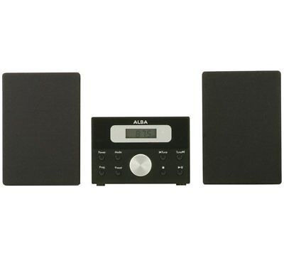 ALBA LCD CD Micro System - Black