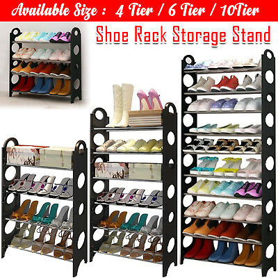 New 8 / 10 Tier Shoe Rack Storage Organiser Stand Shelf Pairs Shoe Unit Trainers