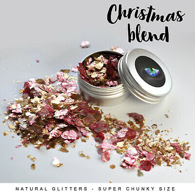 ideal for craft resin Blend of RED SILVER GOLD ECO GLITTERS paper etc.