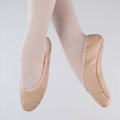 Starlite Basic Pink Leather Ballet Shoe, Full Sole - Size 6