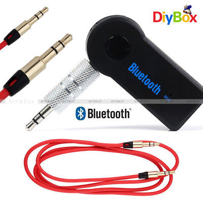 3.5mm Wireless Bluetooth V3.0 Stereo Audio Car Receiver + Audio Cable for Car
