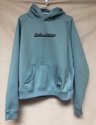 Girls Youth Under Armour Light Blue Hooded Sweatshirt Size L