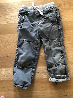 Mini Boden Jersey Lined Cotton Cargo Pants 5Y Play Condition