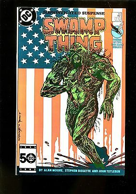 SWAMP THING 44 (9.8) FLAG COVER BATMAN CONSTANTINE ALAN MOORE  DC  (b049)