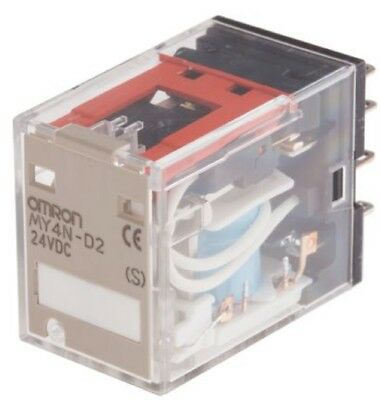 Omron MY4N-D2 DC24 General Purpose Miniature Power Relay, 4PDT, 24 VDC Coil, MY4