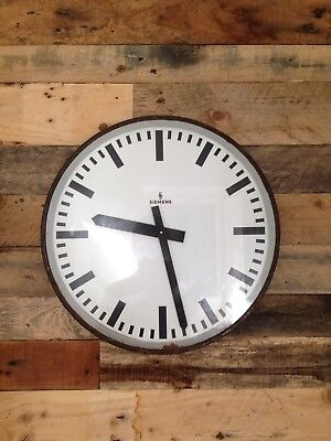 1950'S Large Industrial Siemens Factory Wall Clock Train Station Mid Century