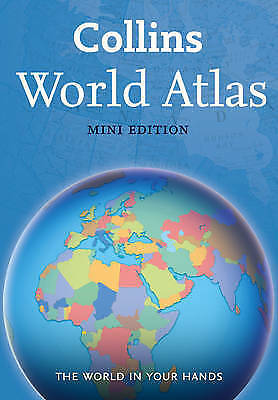 """AS NEW"" Collins Maps, Collins World Atlas: Mini Edition, Paperback Book"