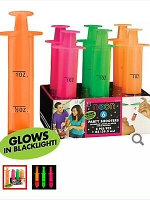Neon Syringe Party Shooters