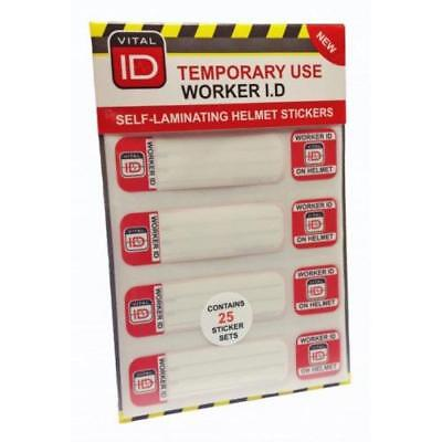 Vitalid Hard Hat ID Induction Stickers Ref WSID03 [Pack 25]