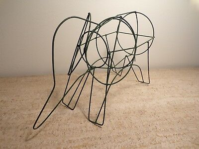 "Vintage Elephant Topiary Form 18"" Welded Metal Wire frame garden yard art 261"