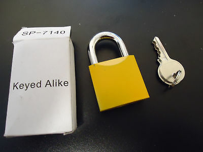 Schwarz Yellow Managers Lock Keyed Alike Manager's Locks SP-7140 6 Pack